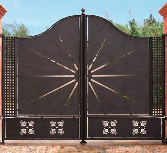 Portões de Batente em Chapa (Alumínio)