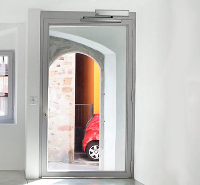 Portas Automáticas de Vidro de Batente